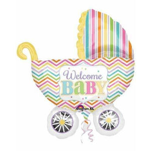 Welcome Baby Carriage Supershape Balloon