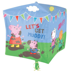 Peppa Pig And Friends Cubez Balloon - mypartymonsterstore