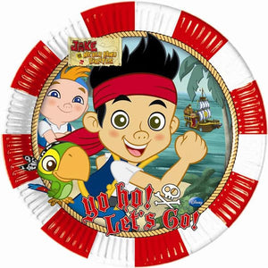 Disney Jake And Neverland Pirate Paper Plates 23cm x8 - mypartymonsterstore