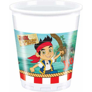Disney Jake And Neverland Pirate Plastic Cups x8 - mypartymonsterstore