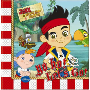 Disney Jake And Neverland Pirate Lunch Napkins x20 - mypartymonsterstore