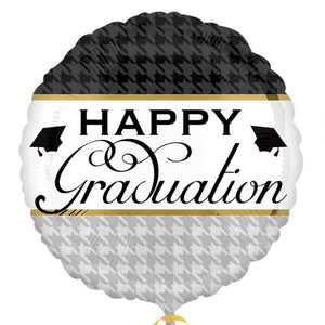 Elegant Happy Graduation Foil Balloon - mypartymonsterstore