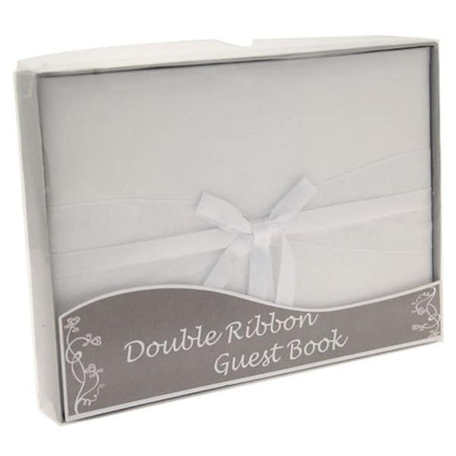 Double Ribbon Guest Book