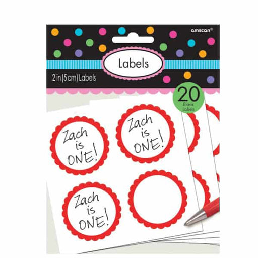 Red Candy Sweet Labels 20pk
