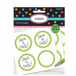 Kiwi Green Candy Sweet Labels 20pk - mypartymonsterstore