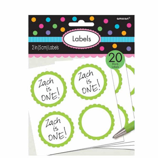Kiwi Green Candy Sweet Labels 20pk