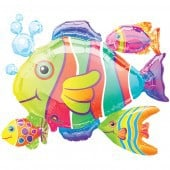 Tropical Fish Cluster Foil Balloon