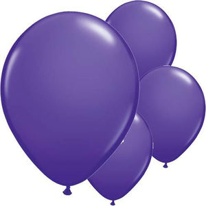 Purple Violet Latex Balloons 6ct - mypartymonsterstore