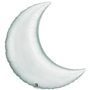 Silver Crescent Moon Foil Balloon - mypartymonsterstore