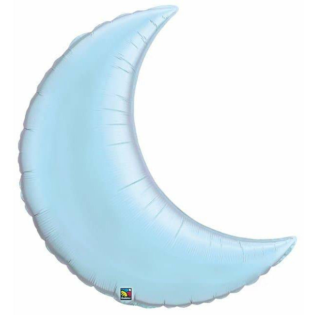 Pearl Light Blue Crescent Moon Foil Balloon