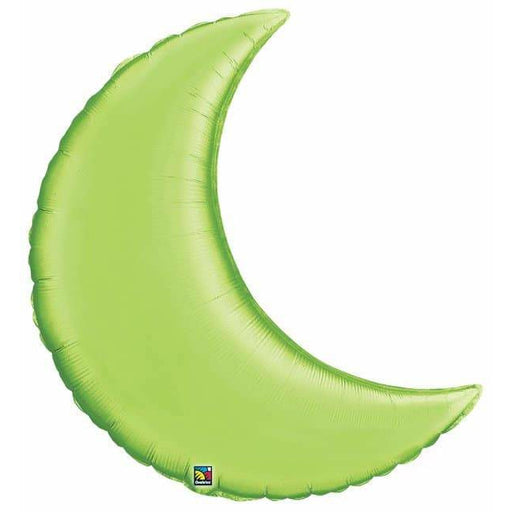Lime Green Crescent Moon Foil Balloon