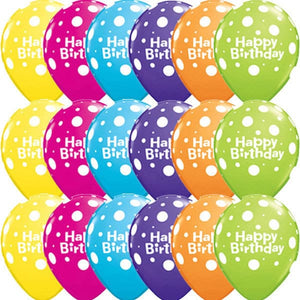 Happy Birthday Big Polka Dots 6ct - mypartymonsterstore