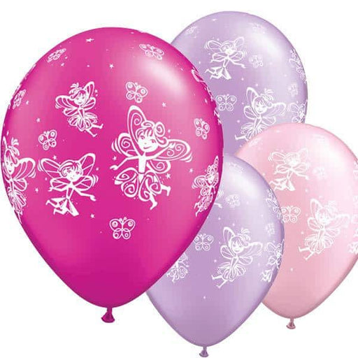 Fairies And Butterflies Latex Balloons 6ct