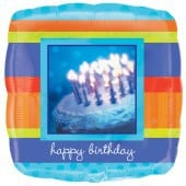 Photographic Birthday Foil Balloon - mypartymonsterstore