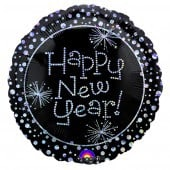 Happy New Year Sparkles Foil Balloons - mypartymonsterstore