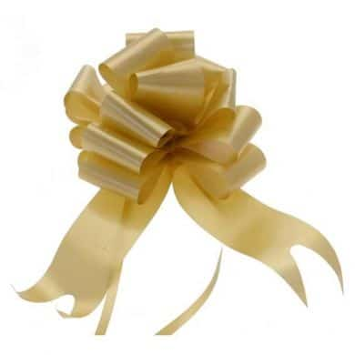 Gold 2 Inch Pull Bows x20