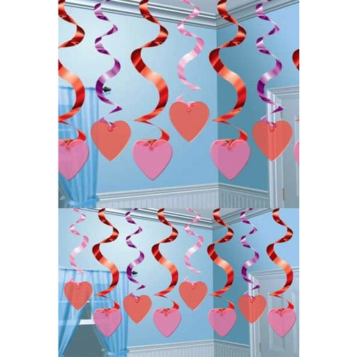 Swirl Hanging Candy Heart Decoration