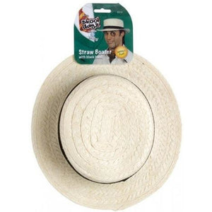Straw Boater School Hat