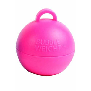Pink Bubble Balloon Weights 1pk - mypartymonsterstore