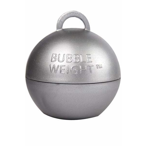 Silver Bubble Balloon Weights 1pk