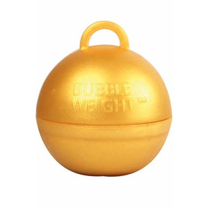 Gold Bubble Balloon Weights 1pk - mypartymonsterstore