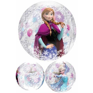 Frozen Clear Orbz Balloon - mypartymonsterstore