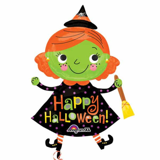 Halloween Cute Witch Supershape Balloon