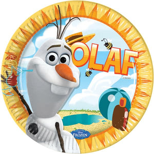 Disney Summer Olaf 23cm Paper Plates x8 - mypartymonsterstore
