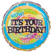 Wow It's Your Birthday Foil Balloon - mypartymonsterstore