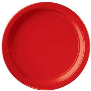 Red Paper Plates 8pk - mypartymonsterstore