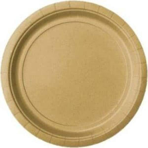 Gold Paper Plates 8pk - mypartymonsterstore