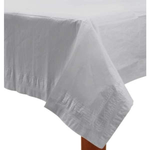 White Paper Tablecover 1pk - mypartymonsterstore