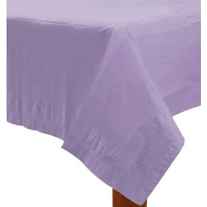 Lilac Paper Tablecover 1pk - mypartymonsterstore