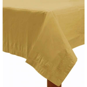 Gold Paper Tablecover 1pk - mypartymonsterstore