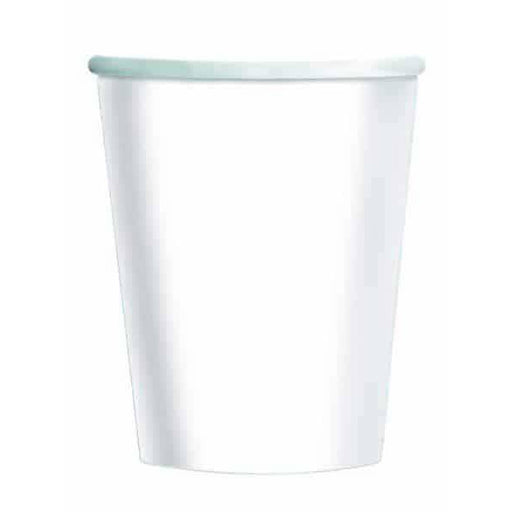 White Paper Cups 8pk