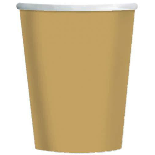 Gold Paper Cups 8pk