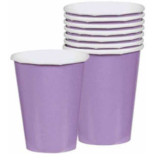 Lilac Paper Cups 8pk - mypartymonsterstore
