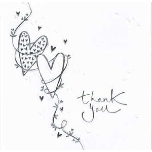 Thank You Hearts Invitations x6 - mypartymonsterstore