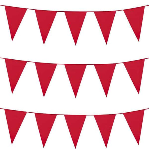 Red Giant Pennant Bunting