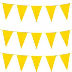 Yellow Giant Pennant Bunting