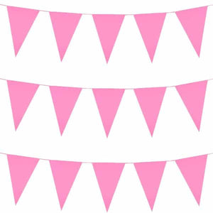Pink Giant Pennant Bunting