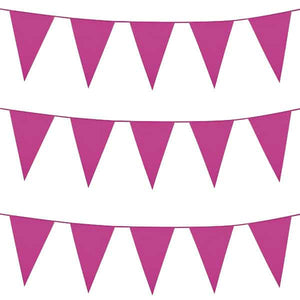 Hot Pink Giant Pennant Bunting