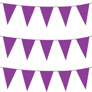 Purple Giant Pennant Bunting