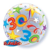30th Birthday Brilliant Stars Bubble Balloon