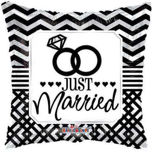 Just Married Pillow Foil Balloon