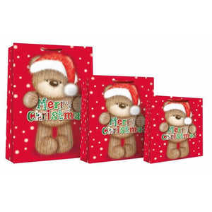 Knitted Bear Christmas Gift Bags