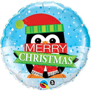 Merry Christmas Penguin Foil Balloon - mypartymonsterstore