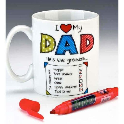 I Love My Dad Tick Mugs