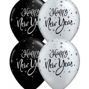 New Year Spakle Latex Balloons 50pk