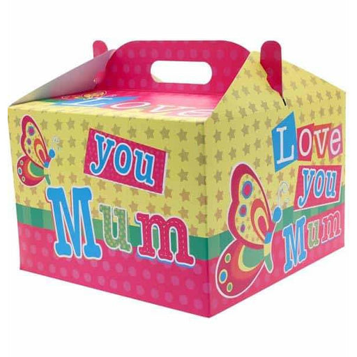 Love You Mum Carry Handle Balloon Box